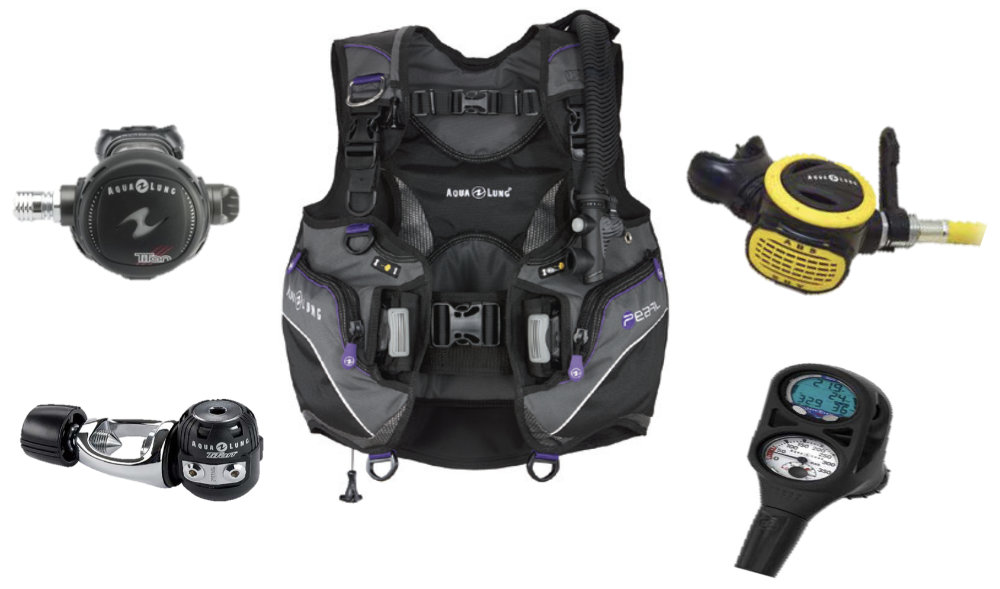 Woman's Dive Gear Packages 2019